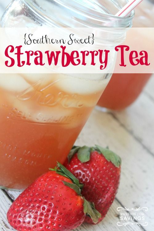 Southern strawberry sweet tea