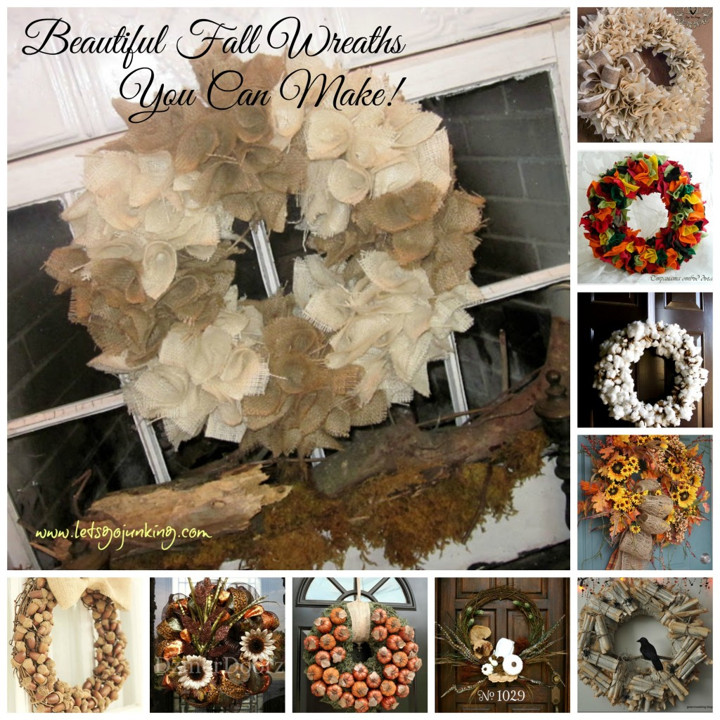 Fall wreath collage  with text