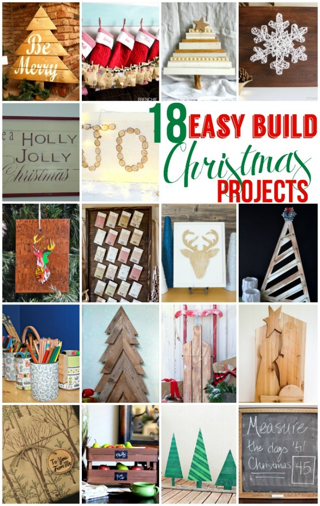 collage for easy build christmas projects