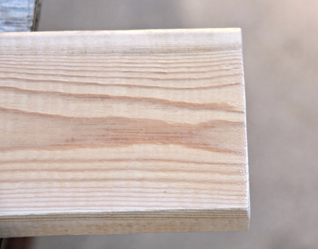 sanded edges