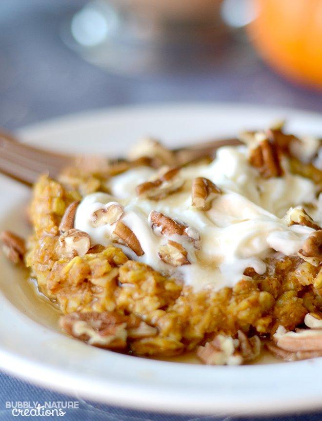 Baked-Pumpkin-Pie-Oatmeal-Perfect-Fall-Weather-food___-tastes-like-pumpkin-pie-Low-fat-high-protien-THM-E